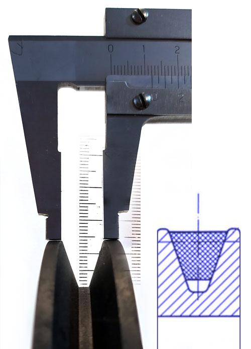 Измерение профиля шкива