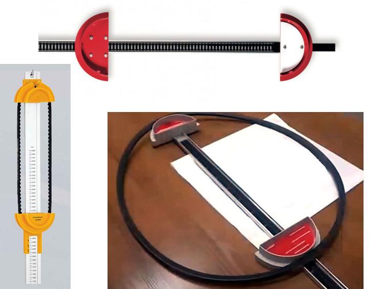 Линейка для измерения длины приводного ремня