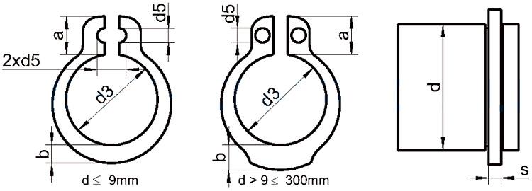 Стопорные кольца диаметр 65 мм